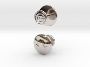 Dragon Ball - Capsule Cufflinks - V2 (2 stars) in Rhodium Plated Brass