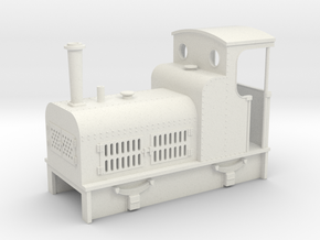 009 Cheap and easy Bagnall petrol loco  in White Strong & Flexible