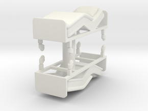Hospital Bed (x2) 1/76 in White Natural Versatile Plastic