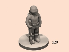 1/144 WW1 German soldier line in Smooth Fine Detail Plastic