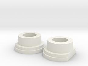 Team Associated RC10 part # 6606 Bearing Adaptor ( in White Natural Versatile Plastic