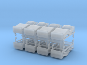 Hospital Bed (x8) 1/120 in Smooth Fine Detail Plastic