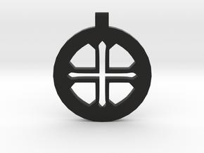 Medieval Amulet in Black Natural Versatile Plastic