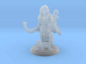 Egyptian Queen Miniature in Smooth Fine Detail Plastic
