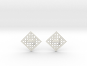 Chess Earrings - Rook in White Strong & Flexible