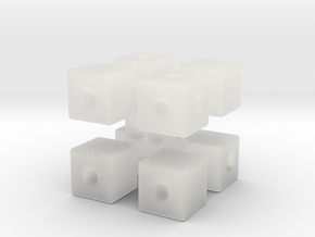 Corner Blocks Die  in Smooth Fine Detail Plastic