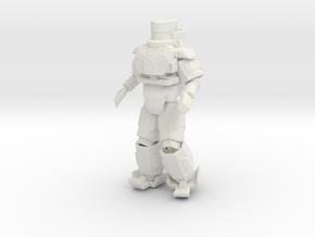 Powered Armor in White Natural Versatile Plastic