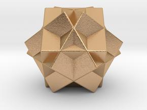 Escher's Tri-cube in Natural Bronze