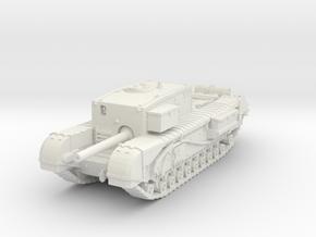 Churchill Gun Carrier 1/76 in White Natural Versatile Plastic