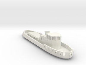 005A 1/350 Tug boat in White Natural Versatile Plastic