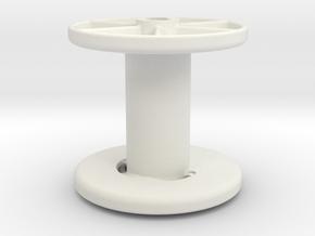 stringreel diameter 4, 4 wide in White Natural Versatile Plastic
