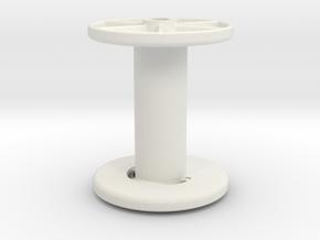 stringreel diameter 4, 5 wide in White Natural Versatile Plastic