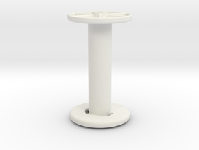 stringreel Diameter 4, 7 wide in White Natural Versatile Plastic