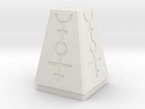 Necron Style Objective Marker in White Natural Versatile Plastic