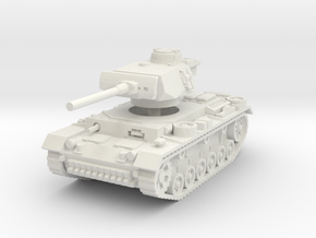 Panzer III L 1/87 in White Natural Versatile Plastic