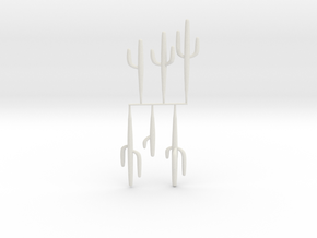 HO-Scale Saguaro Collection 01 in White Natural Versatile Plastic
