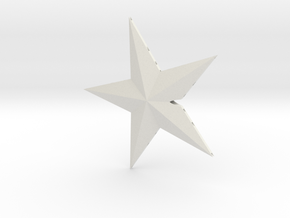 Glowing Christmass star.  in White Natural Versatile Plastic: 28mm