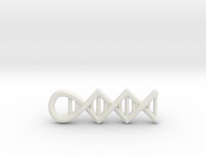 DNA pendant in White Natural Versatile Plastic