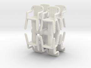 Plastic Chair (x8) 1/100 in White Natural Versatile Plastic