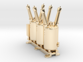 Electrical Substation Circuit Breaker in 14K Yellow Gold: 1:87 - HO