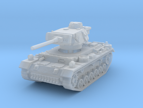 Panzer III M 1/160 in Smooth Fine Detail Plastic