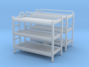 Triple Bunk Bed (x2) 1/87 in Smooth Fine Detail Plastic
