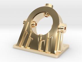 Bethlehem Steel Cast Angled Bearing Model in 14K Yellow Gold: 1:48 - O