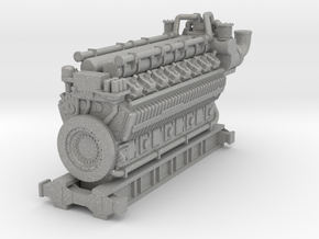 5000HP 16 Cyl Industrial Natural Gas Engine Model in Aluminum: 1:64 - S
