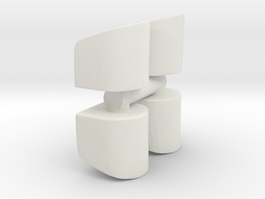 Rounded Chair (x4) 1/76 in White Natural Versatile Plastic