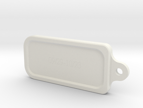 Libra key ring in White Natural Versatile Plastic