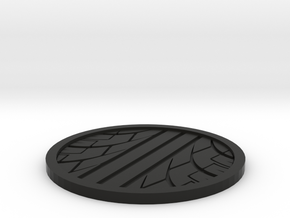Tire Track Coaster in Black Natural Versatile Plastic