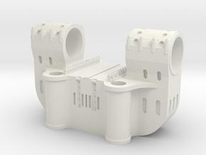 Bethlehem Steel Double Bearing Casting in White Natural Versatile Plastic: 1:64 - S