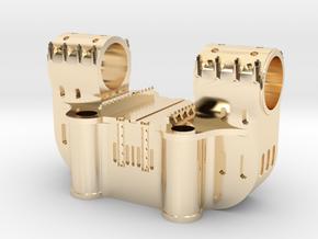 Bethlehem Steel Double Bearing Casting in 14k Gold Plated Brass: 1:64 - S