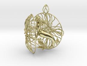 Mermaid of Atlantis Pendant in 18k Gold Plated Brass
