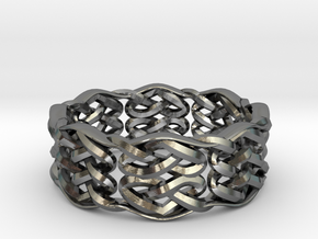 Celtic Knots & Hearts Ring Size 8 in Polished Silver: 8 / 56.75