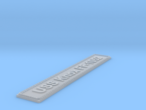 Nameplate USS Knox FF-1052 in Smoothest Fine Detail Plastic