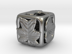 leaves Die 2 (Small) in Natural Silver