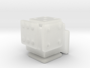 Shifted Die (Small) in Smooth Fine Detail Plastic