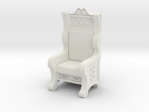 Throne in White Natural Versatile Plastic