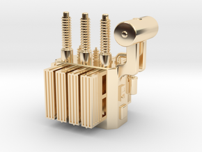 High Voltage Oil Filled Transformer in 14K Yellow Gold: 1:64 - S