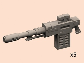 28mm automatic guns SM x5 in Smoothest Fine Detail Plastic