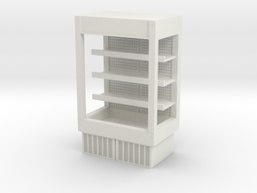 Grocery Fridge 01. 1:43 Scale  in White Natural Versatile Plastic