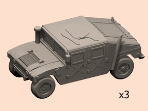 1/160 HMMWV car in Smooth Fine Detail Plastic