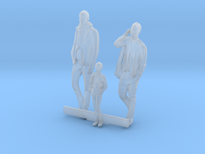 HO Scale Men and Boy 3 in Smooth Fine Detail Plastic