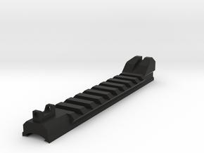 Carter feed picatinny 5.25in, raised rear in Black Natural Versatile Plastic