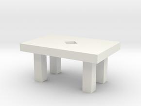 Small table in White Natural Versatile Plastic: Medium