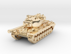 Tank - T29 Heavy Tank - size Large in 14K Yellow Gold