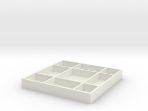 Cookies Box in White Natural Versatile Plastic