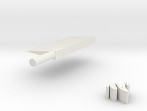 Steel knife charm in White Natural Versatile Plastic