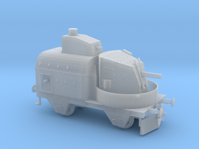 1/87th (H0) scale Armoured traincar, gun carriage in Smoothest Fine Detail Plastic